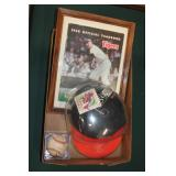 #293 Al Kaline signed lot (3) incl 1968 Yearbook, hat, & ball