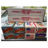 Ten 1990s factory baseball sets.