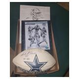 Cowboys lot incl. signed ball & prints