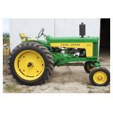 Lot# 606 John Deere Model 630 WF restored tractor - power steering