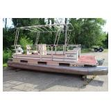 #616 Sylvan Pontoon Boat w/ Power 55 Boat Motor
