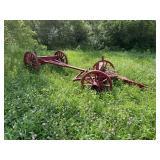 #617 Vintage Wagon Frame w/ Wooden Spoked Wheels