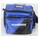 #127 Shimano fishing and tackle bag, incl. worms, skippers etc.