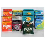 #204 Fishing Line lot incl. Prime, Pearlescent, Bass Pro Premium,
