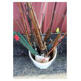 #189 Ice Fishing Bucket full of rods, reels, lures, etc. #3