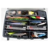 #134 Plano over and undertackle box inl. Floating super shad rap