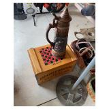 Anheuser Bush Crate and Beer Stein