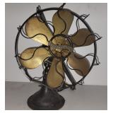 #2500 Antique Westinghouse cage fan with brass blades