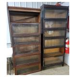 Lots 2557, 2558A Sectional Stacking Bookcases,