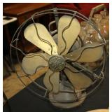 #2501 General Electric Cage fan with brass blades