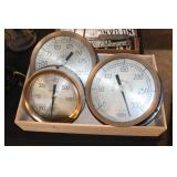 #2502 Lot of 3 Fox Boro guages incl. Steam, Air Pressure, and Water Storage Tank