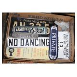 #2504 Fun sign and liscence plate lot incl. Apartments For Rent, Private, Underground Telaphone Cabl