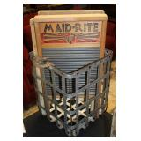 """#2511 Galvanized cage with 3 washboards inc, """"maid right"""