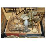 #2535 Pepsi Crate Lot incl. Egg Scale, Antique basket, Viking fan, Rocket Bank, etc.