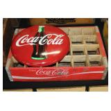 #2540 Coca Cola Crate with Round Coke sign