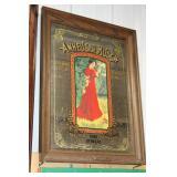 #2530 Anheusier-Busch Budweiser Girl Beer Mirror