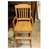 #2523 Childs Oak High Chair