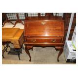 #2555 Mahogany drop front secretary w/ drawer