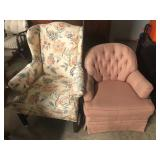 #2562 Lot Of 2 Upholstered Arm chairs