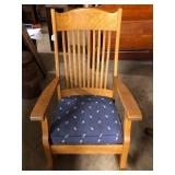 #2563A Oak rocking chair