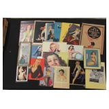 #2026 Pin-Up Girl Related Lot incl. 1946 Esquire Calendar, Thermometer,