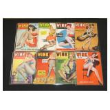 #2033 Lot of 8 Wink Pulp magazines