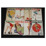 #2040 Lot of 7 Film Fun Pulp Magazines #6