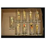 2046 Lot of 7 Pinup Girl Glasses #1