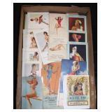 #2053 Massive Lot of pinup girl notepads, calendars, etc.