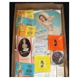 #2056 Pinup lot, incl. Miracle breeze 1943 fan, notepads,