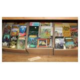 #2104 Large paperback book lot incl. The end of the Matter, Universe 9, etc.
