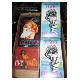 #2071 Lot of 4 Sealed pinup and collector card boxes incl. Elvgren, and Olivia