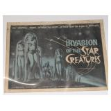 """#2074 1962 """"Invasion of the Star Creatures"""" Movie Poster"""