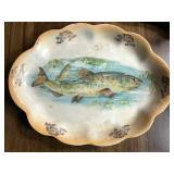 Wellsville China Fish Platter