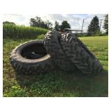(4) 20.8R42 Goodyear tubeless Tractor tires