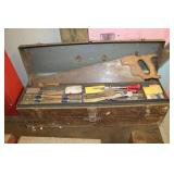 Hand Saws, tool boxes, etc.