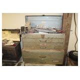 Large selection of older tool boxes