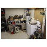 Office Desk, Filing Cabinet, Washer, etc.