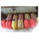 Large selection of gas cans