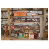 Shelving full of electric power tools, etc.