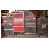 Several Craftsman chest on chest rolling tool box