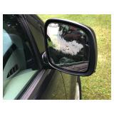 cracked passenger mirror