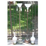 2 Greek vase lamps, 2 floor lamps