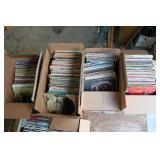Record collection consisting of 4 large boxes