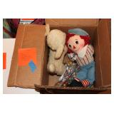 Vintage Raggedy Andy, Musical Lamb, etc.