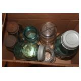 Box of 8 antique ball jars