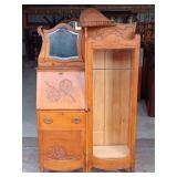 Side by Side Secretary Bookcase