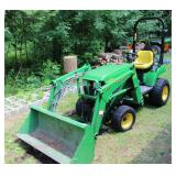 John Deere 2210 diesel tractor w/ JD 210 front loader