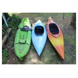 three Kayaks incl. Old Town Voyager