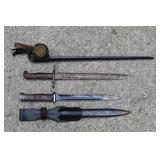 US Military bayonet, and others